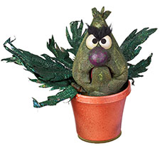 stink monster plant from sesame street