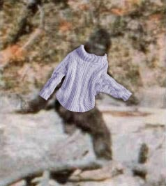 bigfoot in sweater
